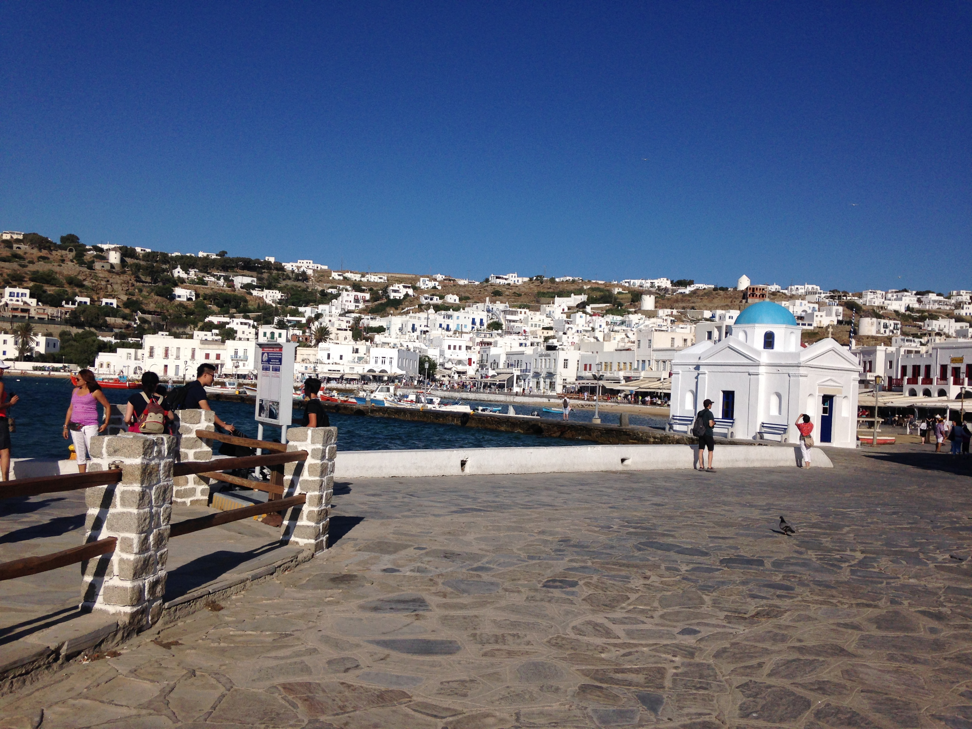 how to get to mykonos from usa